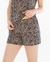 Soma Intimates Pajama Shorts Zebra Palm Soft Tan