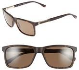 BOSS Men's '0704Ps' 57Mm Polarized Sunglasses - Dark Havana/ Light Gold/bronze