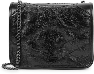 Saint Laurent Niki small black leather cross-body bag