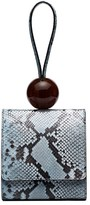 BY FAR snakeskin-effect bracelet bag