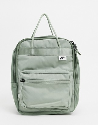 Nike mini khaki green box backpack