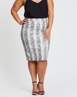 Simply Be Faux Leather Pencil Skirt
