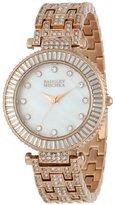 Badgley Mischka Women's BA/1222WMRG Swarovski Crystal Accented Rose Gold-Tone Bracelet Watch