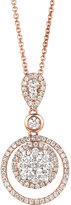 LeVian Le Vian Diamond Diamond Double Circle Pendant (7/8 ct. t.w.) in 14k Rose Gold