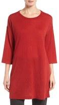 Eileen Fisher Tencel ® & Merino Wool Blend Tunic (Regular & Petite)