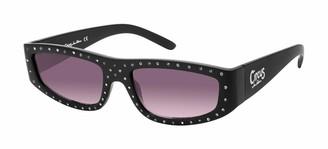Sam Edelman Women's CC485 Rectangular Sunglasses with 100% UV Protection 66 mm