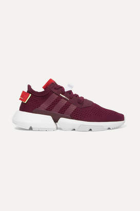adidas Pod-s3.1 Suede-trimmed Stretch-knit Sneakers - Burgundy