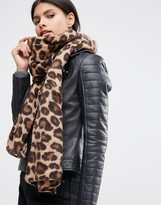 Asos Lightweight Natural Leopard Print Scarf