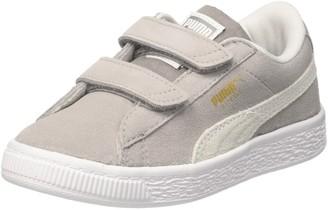 Puma Kids' Suede Classic V PS Sneaker Ash White 2.5 UK