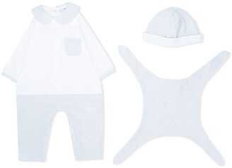 Fendi Kids Monogram Three-Piece Babygrow Set