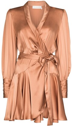Zimmermann Wraparound Mini Dress