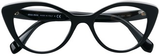 Miu Miu Cat Eye Logo Glasses