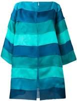 Gianluca Capannolo striped oversized coat