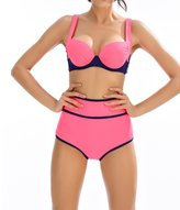 LOVEBEAUTY Women's High Waist Bikini Set Push Up Bathing Suit Beachwear XL