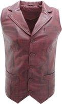 Infinity Men's Classic Smart Leather Waistcoat L