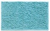 InterDesign Microfiber Fuzi Bathroom Shower Accent Rug, 34 x 21, Aqua