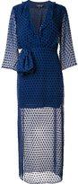 Saloni sheer polka dot dress - women - Polyester/Rayon/Silk - 6
