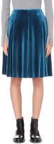 Mo&Co. High-rise velvet skirt