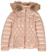 Moncler Adanna Down Jacket with Fur Hood