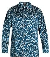 Meng Floral-print Silk-satin Pyjama Top