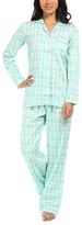 Malabar Bay Aqua Sea Kisses Organic Cotton Sateen Pajama Set