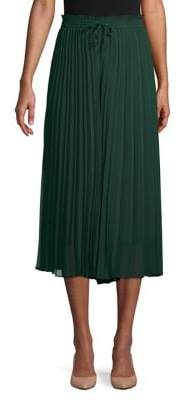 Joan Vass Pleated Midi Skirt