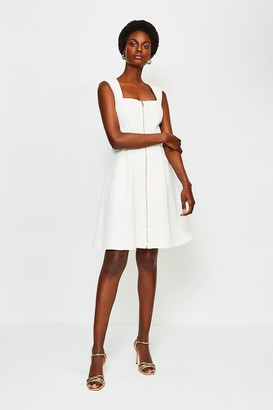 Karen Millen Zip Front A-Line Dress