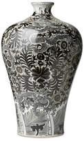 "One Kings Lane 22"" Dragon Vase - Black/White"