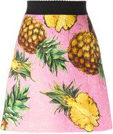 Dolce & Gabbana pineapple print brocade skirt - women - Silk/Cotton/Polyester/Viscose - 46