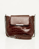 Le Château Crocodile Embossed Leather-Like Bag