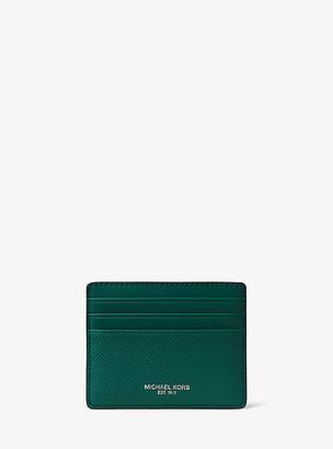 Michael Kors Harrison Crossgrain Leather Tall Card Case