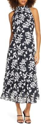 Sam Edelman Floral High Neck Maxi Dress