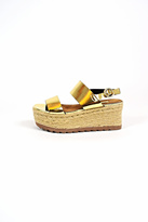 Corina Gold Platform Sandals