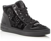 MICHAEL Michael Kors Willow Embellished Velvet High Top Sneakers