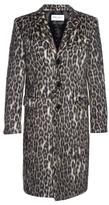 Saint Laurent Notch-lapel leopard-print coat