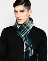 Minimum Check Wool Scarf