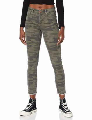 Only Women's ONLBLUSH Life MID SK RAW ANK CAMO PNT Trouser