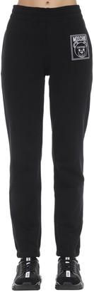 Moschino Straight Leg Cotton Jersey Sweatpants