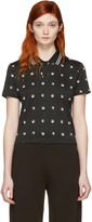 McQ by Alexander McQueen Black Cropped Swallow Polo
