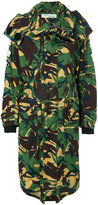 Off-White camouflage trench coat - women - Cotton/Polyester - 38