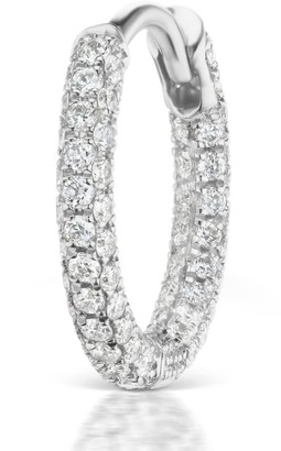 Maria Tash Diamond Five Row Pave Hoop Bottom Hinge Earring (8mm)