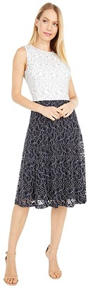 Lauren Ralph Lauren Charley Sleeveless Day Dress (Lighthouse Navy/Lauren White) Women's Dress