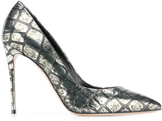 Casadei Snake-Effect Pumps