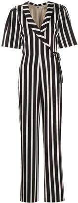 Alice + Olivia Luanas striped wide-leg jumpsuit