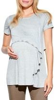 Maternal America Women's Ruffles Cascade Maternity/nursing Top