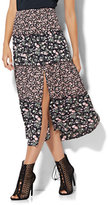 New York & Co. Tiered Slit Skirt - Floral