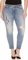 Arizona High-Rise Destructed Super-Skinny Jeans - Juniors Plus