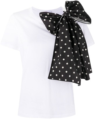 RED Valentino bow-embellished T-shirt