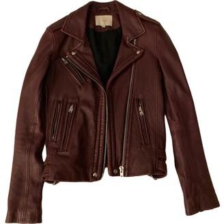 IRO Burgundy Leather Leather jackets