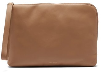 Mansur Gavriel Pillow Pouch Leather Clutch - Beige